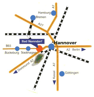 Karte Anfahrt Bad Nenndorf